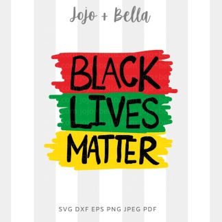 black lives matter svg - blm red green yellow cut file for cricut and silhouette