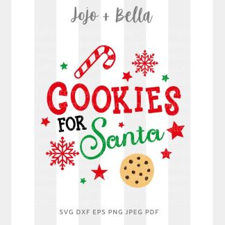Cookies for Santa SVG - Christmas cut file for cricut and silhouette