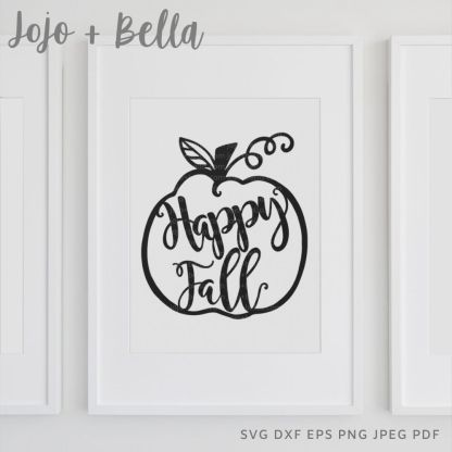 Happy fALL Svg - fall cut file for cricut and silhouette