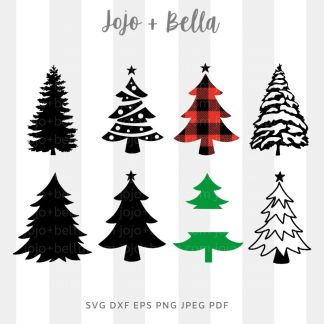 mixed / Christmas Tree bundle SVG - Christmas cut file for cricut and silhouette