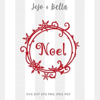 Noel Snowflake SVG - Christmas cut file for cricut and silhouette