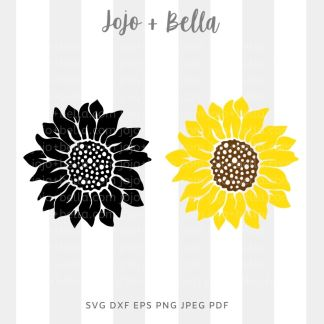 Sunflower Svg - flowers/wreaths cut file for cricut and silhouette