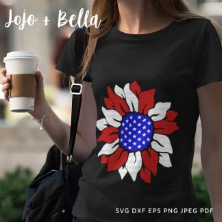 sunflower svg - 4th of july cut file for Cricut and Silhouette