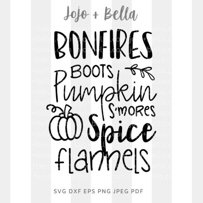 Bonfires boots smores Svg - fall cut file for cricut and silhouette