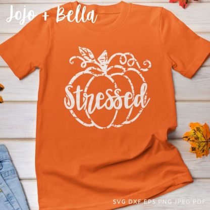 Stressed puMPKIN Svg - fall cut file for cricut and silhouette