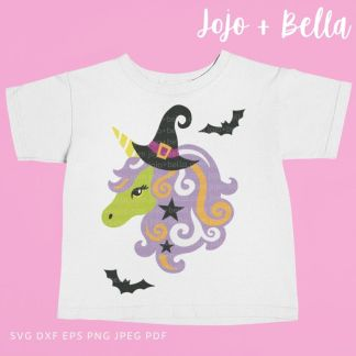 Unicorn Witch Svg - halloween cut file for cricut and silhouette