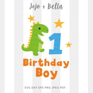 1st birthday boy svg - cut file for Cricut and Silhouette