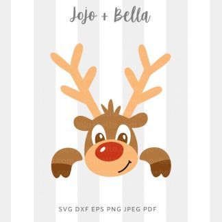 Cute reindeer SVG - Christmas cut file for cricut and silhouette