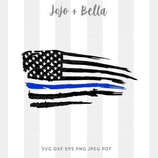 thin blue line svg - police cut file for Cricut and silhouette