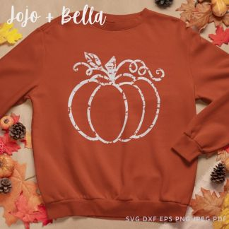 Distressed pumpkin Svg - fall cut file for cricut and silhouette