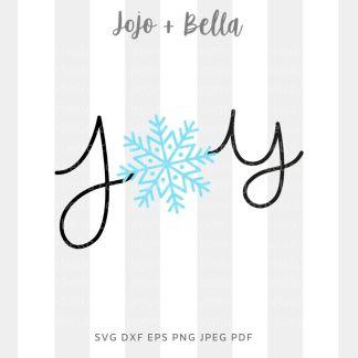 Joy snowflake - Christmas cut file for cricut and silhouette