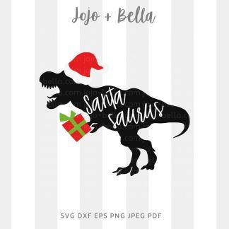 Santasaurus dinosaur - Christmas cut file for cricut and silhouette