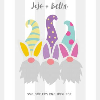 Easter Gnome svg png for cricut, silhouette and sublimation