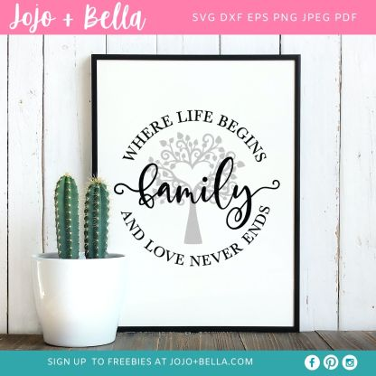 family life svg for cricut and silhouette crafting