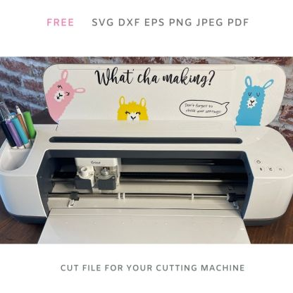 Free What'cha Making? Llamas Svg file for Cricut and Silhouette Crafting