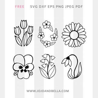 Free Flower Svg Bundle For Cricut and Silhouette Crafting