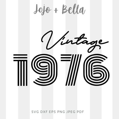 vintage 1976 svg file for cricut and silhouette
