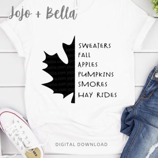 Free Maple Leaf Fall Sign Svg for Cricut and Silhouette