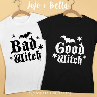 Free Good Witch Bad Witch Svg Bundle For Cricut and Silhouette