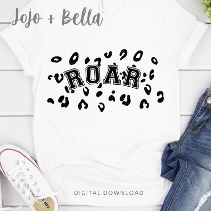 Free Roar Leopard Print Svg for Cricut and Silhouette