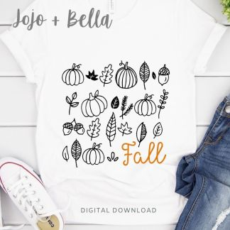 free Fall Leaves Shirt Svg for cricut and silhouette