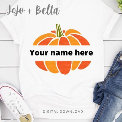 Free Pumpkin Monogram svg for cricut and silhouette crafting
