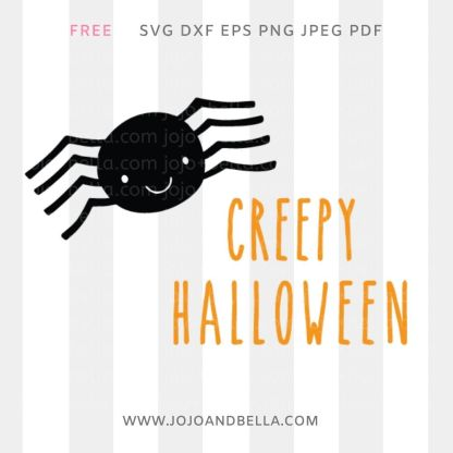 Free Creepy Halloween Svg filel for Cricut and Silhouette