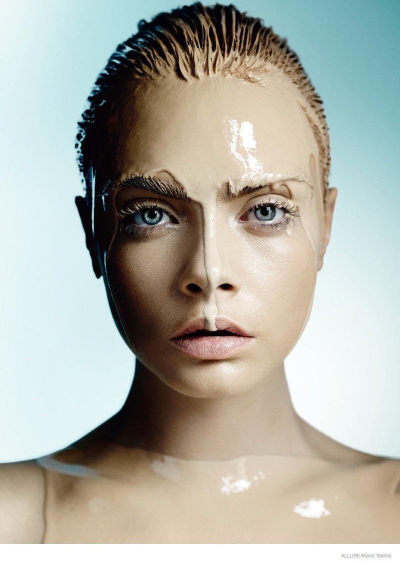 model cara delevingne by mario testino for allure magazine