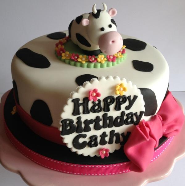 Cow Theme Cake
