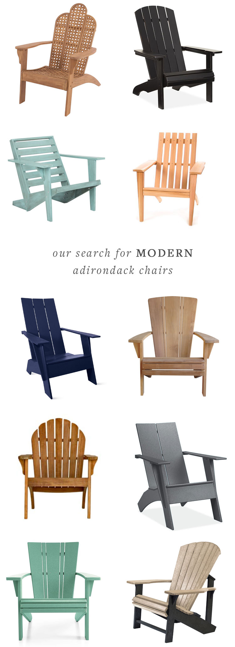 modern adirondack chair patio plans jojotastic our search for chairs the perfect addition summertime entertaining on deck