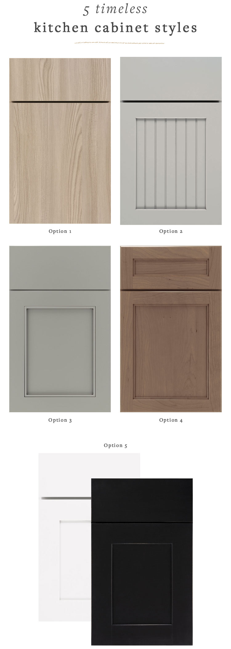 Our Renovation Kitchen Cabinet Door Styles That Will