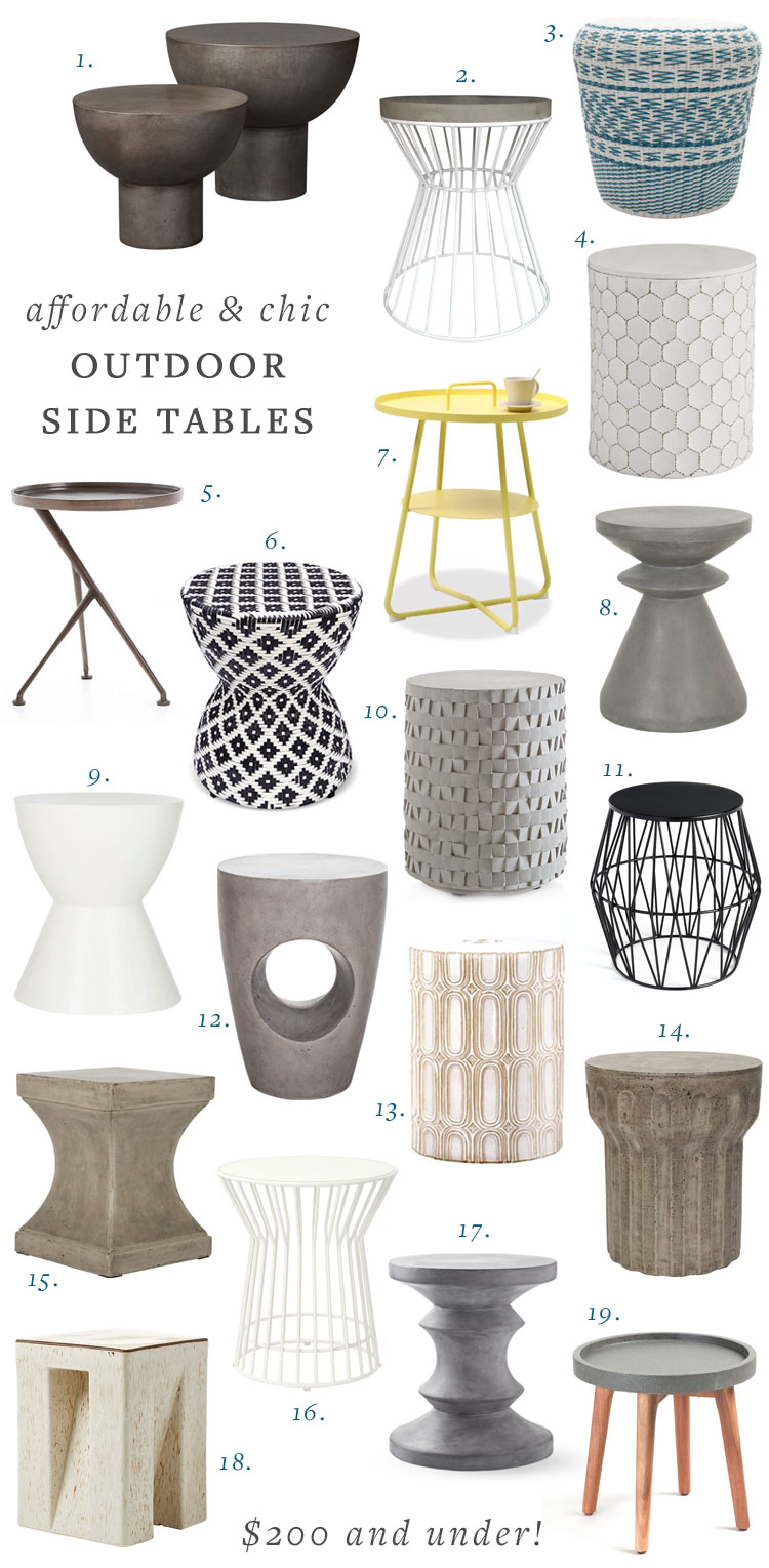 affordable outdoor side tables for your
