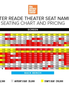 Click here to see  map of the walter reade theater and select your seat reserve choice or for further information please contact emily vito also naming film society lincoln center rh filmlinc