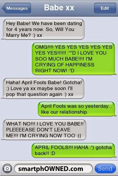 April Fools For Boyfriend : april, fools, boyfriend, April, Fools, Pranks, Boyfriend, Wedding, Galery