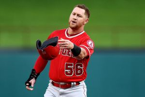 kole calhoun tosses his helmet during another lost season for the halos