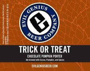 Evil Genius Beer Company Trick or Treat Chocolate Pumpkin Porter best craft beers in pennsylvania