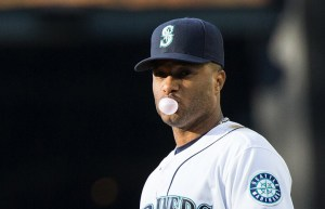 Robinson Cano blows a bubble during the Seattle Mariners season MLB Second Half Storylines AL West