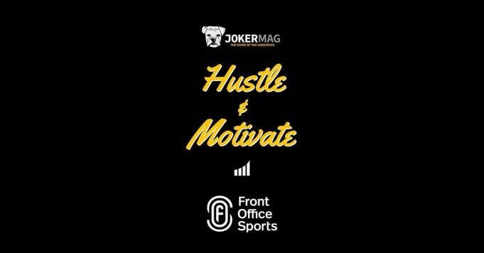 Interviewing the COO of Front Office Sports Russell Wilde on the Hustle & Motivate podcast, presented by Joker Mag