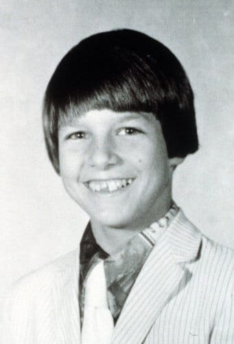 A photo of Tom Cruise in middle school, pulled from his yearbook. Cruise struggled to adjust to new schools and dealt with a lot of bullying throughout his adolescence.