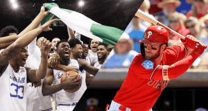 Sneaky Plays podcast new format Joker Mag, the home of the underdog. Bryce Harper Phillies and Seton Hall upset over Villanova. March 9 2019.