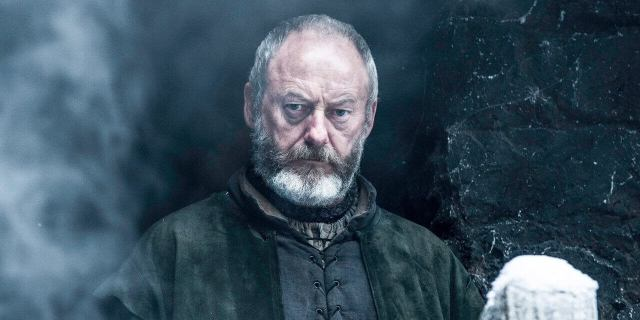 Liam Cunningham as Ser Davos Seaworth on HBO's Game of Thrones