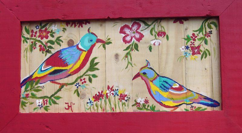 Gekleurde vogels