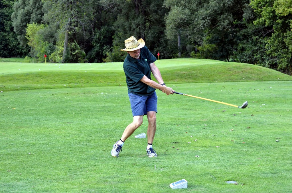 Golf Old Man golfer golfing