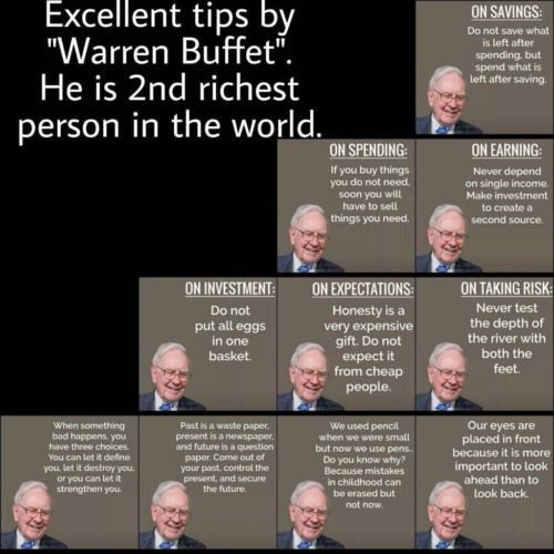 Best advise from the worlds 2nd richest person