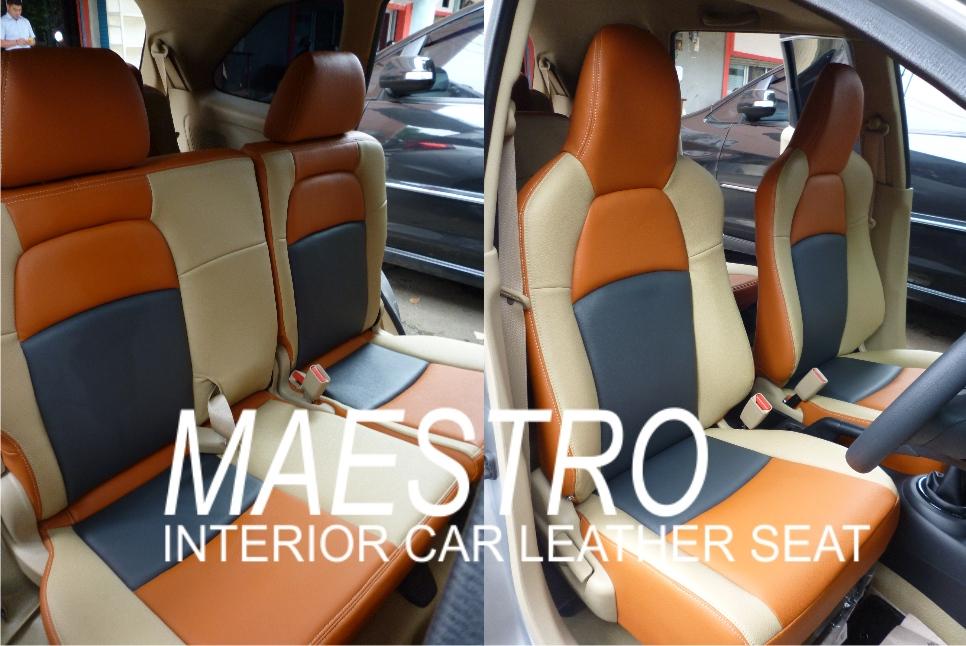 Sarung jok mobil Honda Mobilio kombinasi tiga warna MBTech