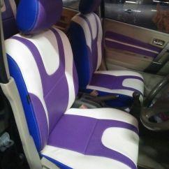 Cover Jok Grand New Avanza 2018 Tipe E Toyota Project Specialist Mobil Surabaya Mbtech Tema Ungu Dan Putih Purple White
