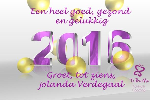 nieuwjaarsgroet 2015 To Be Me