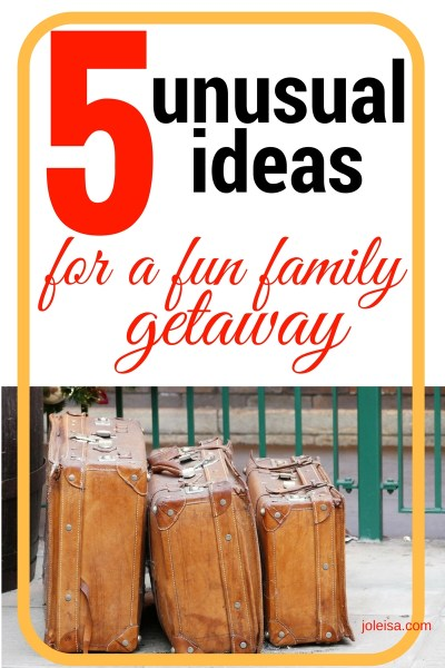 Five tips for a family or couples getaway (holiday)