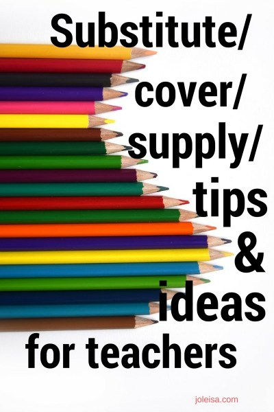 Supply/Cover teacher: tips and tricks