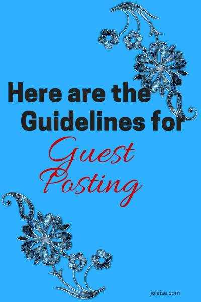 You can guest post with us if you like!